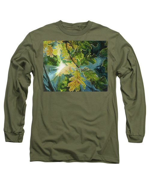 Sun Through Oak Leaves Long Sleeve T-Shirt