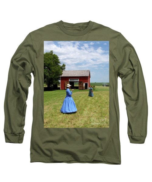 Sunday Afternoon At Chaplin Creek Long Sleeve T-Shirt by Sue Stefanowicz