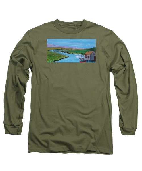 Sunday Afternoon On The California Delta Long Sleeve T-Shirt by Mike Caitham