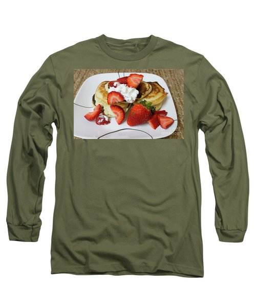 Sunday Breakfast - Food- Kitchen Art Long Sleeve T-Shirt by Anne Rodkin