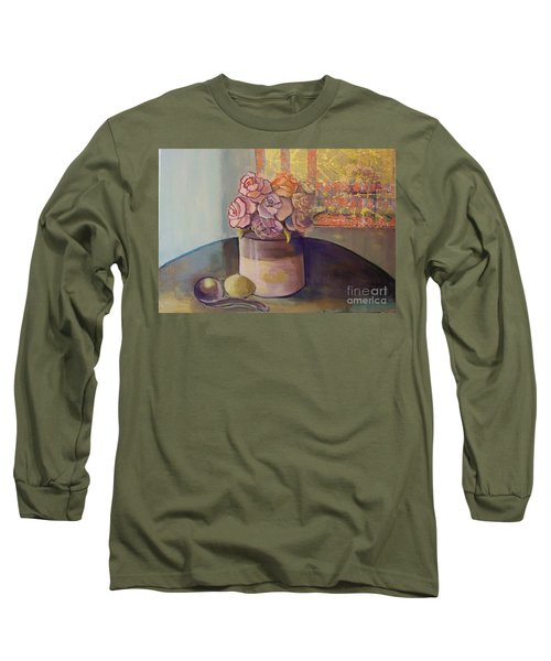 Sunday Morning Roses Through The Looking Glass Long Sleeve T-Shirt by Marlene Book