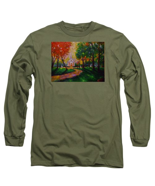 Long Sleeve T-Shirt featuring the painting Sunday School by Emery Franklin