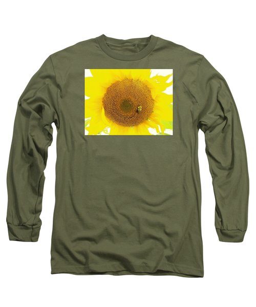 Sunflower And The Happy Bee Long Sleeve T-Shirt