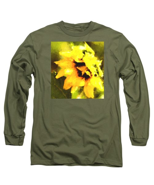 Sunflower Long Sleeve T-Shirt by Cathy Donohoue