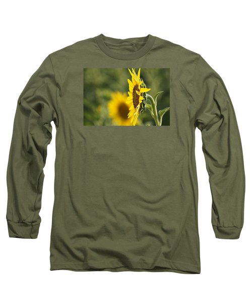 Sunflower Delight Long Sleeve T-Shirt by Kathy Churchman