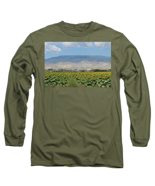 Sunflower Farming Splendor In Delta Co Long Sleeve T-Shirt