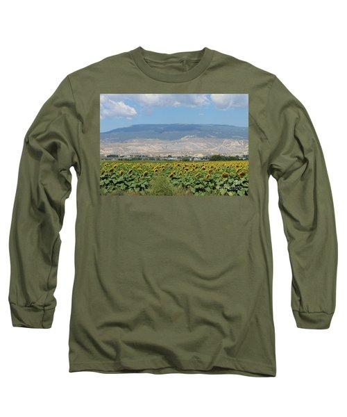 Sunflower Farming Splendor In Delta Co Long Sleeve T-Shirt