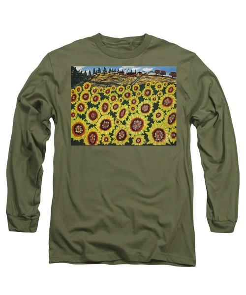 Sunflower Fields  Forever Long Sleeve T-Shirt