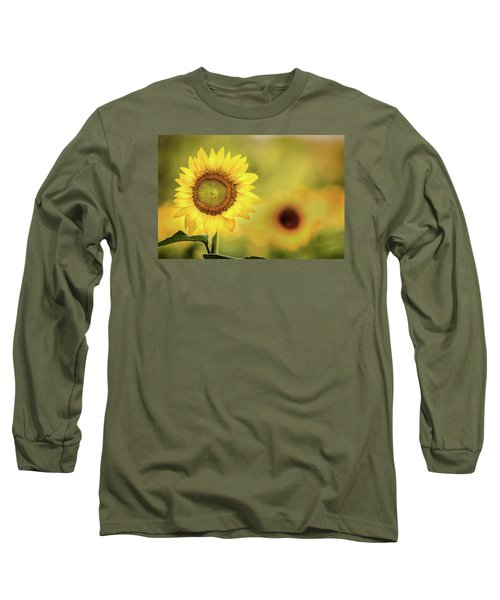 Sunflower In A Field Long Sleeve T-Shirt