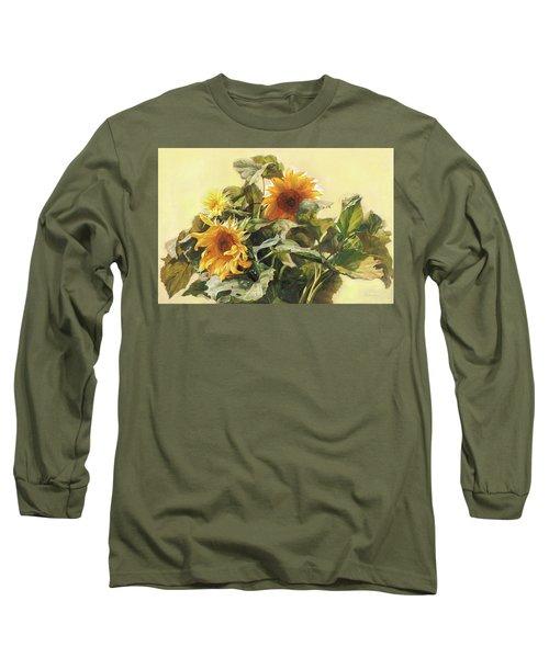 Sunflower In Love - Good Morning America Long Sleeve T-Shirt
