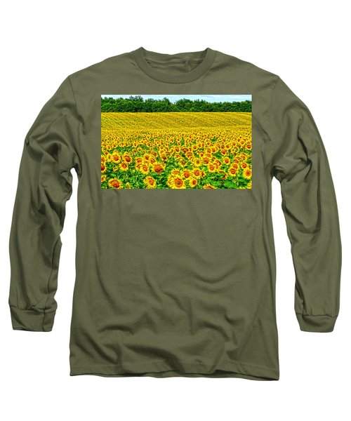 Sunflower Long Sleeve T-Shirt by Thomas M Pikolin