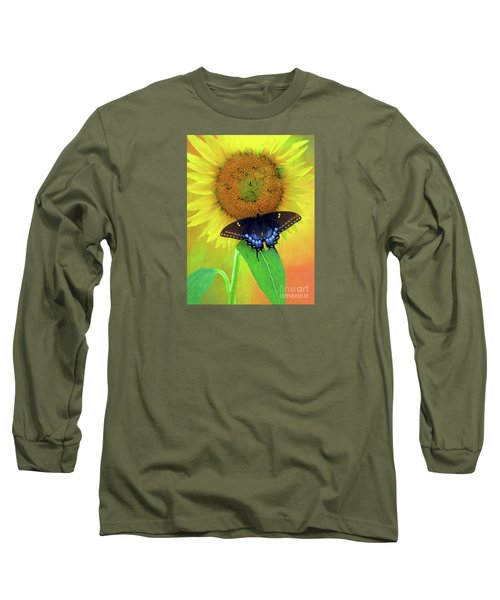 Sunflower With Company Long Sleeve T-Shirt by Marion Johnson