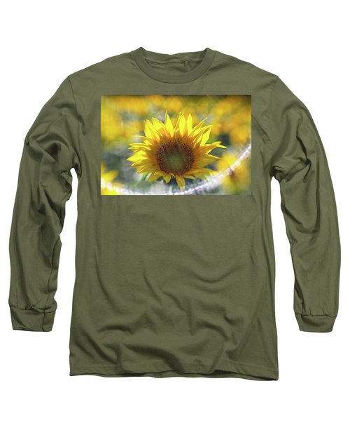 Sunflower With Lens Flare Long Sleeve T-Shirt