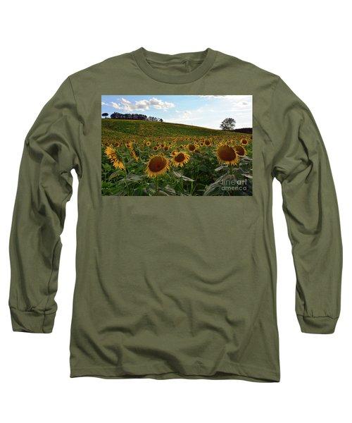 Sunflowers Fields  Long Sleeve T-Shirt