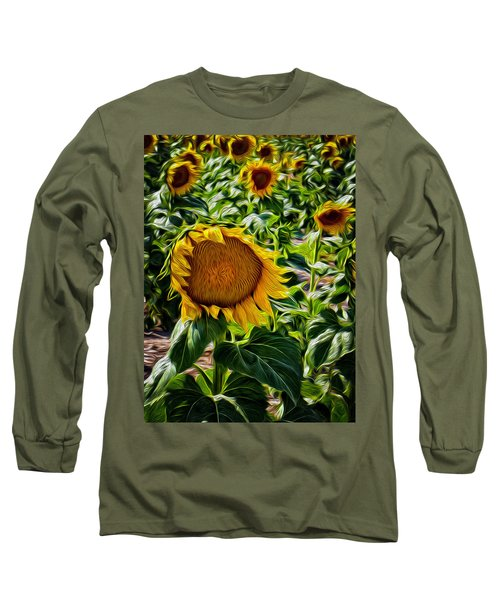 Sunflowers Glaze Long Sleeve T-Shirt