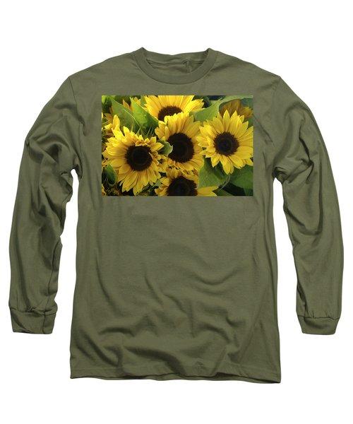 Sunflowers Long Sleeve T-Shirt by Henri Irizarri