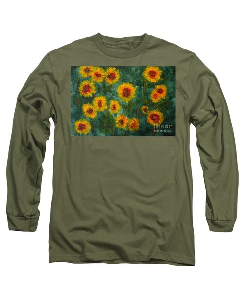 Sunflowers Long Sleeve T-Shirt by Lynne Reichhart