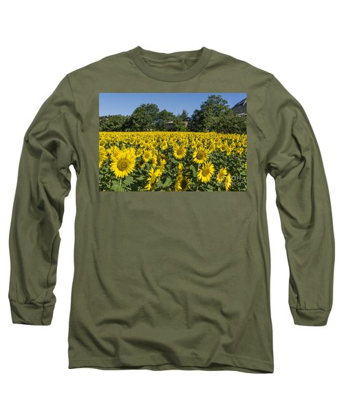 Long Sleeve T-Shirt featuring the photograph Sunflowers Provence  by Juergen Held