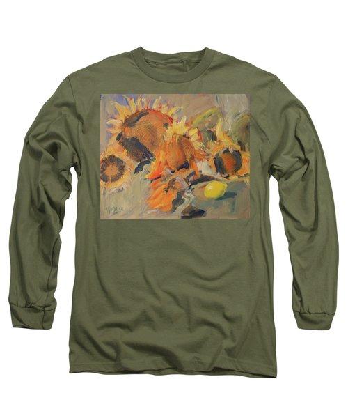 Sunflowers With Lemon Long Sleeve T-Shirt