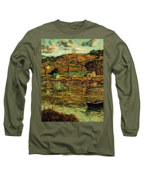 Sunlight On The Harlem River 1919 Long Sleeve T-Shirt