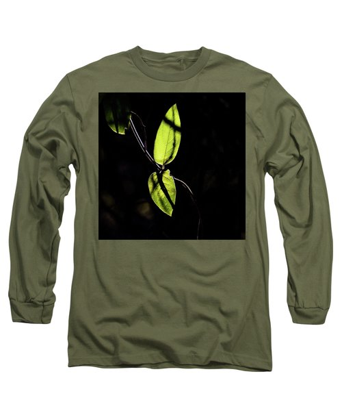 Sunlit Leaves Long Sleeve T-Shirt by Jay Stockhaus