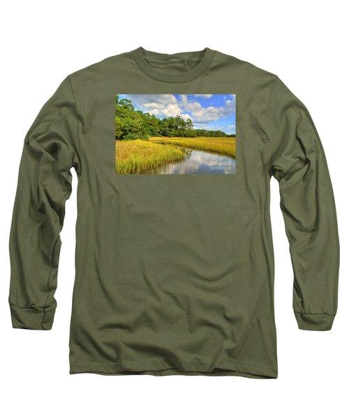Sunlit Marsh Long Sleeve T-Shirt by Kathy Baccari