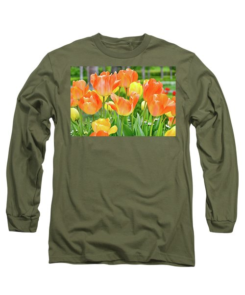Long Sleeve T-Shirt featuring the photograph Sunny Tulips by David Lawson