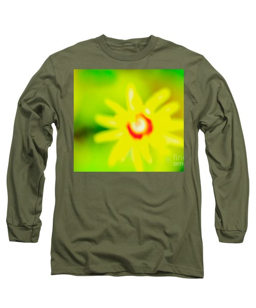 Long Sleeve T-Shirt featuring the mixed media Sunnyday by Kim Henderson