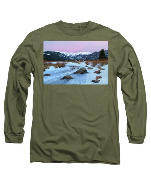 Sunrise At Rocky Mountain National Park Long Sleeve T-Shirt by Ronda Kimbrow