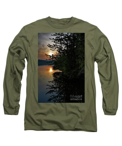 Long Sleeve T-Shirt featuring the photograph Sunrise At The Lake by Henry Kowalski