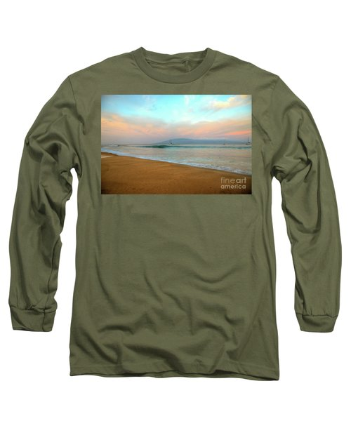 Long Sleeve T-Shirt featuring the photograph Sunrise On Ka'anapali by Kelly Wade