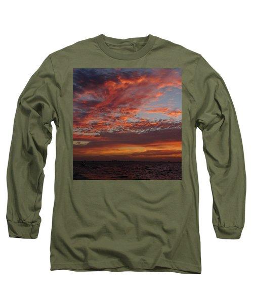 Long Sleeve T-Shirt featuring the photograph Sunrise On Sanibel Island 2 by Melinda Saminski