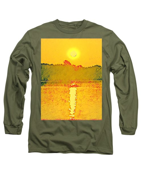Sunrise On Town Lake Long Sleeve T-Shirt