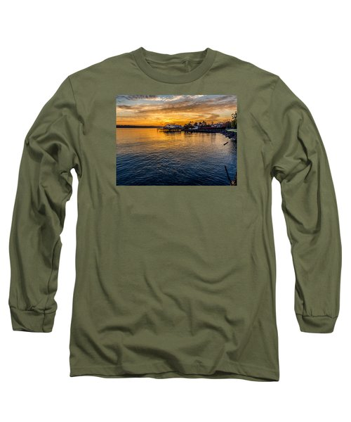 Long Sleeve T-Shirt featuring the photograph Sunrise Over Commencement Bay Tacoma, Wa by Rob Green