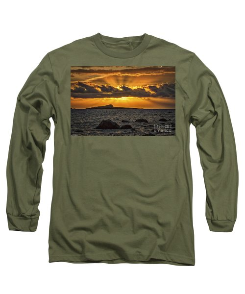 Sunrise Over Rabbit Head Island Long Sleeve T-Shirt by Mitch Shindelbower