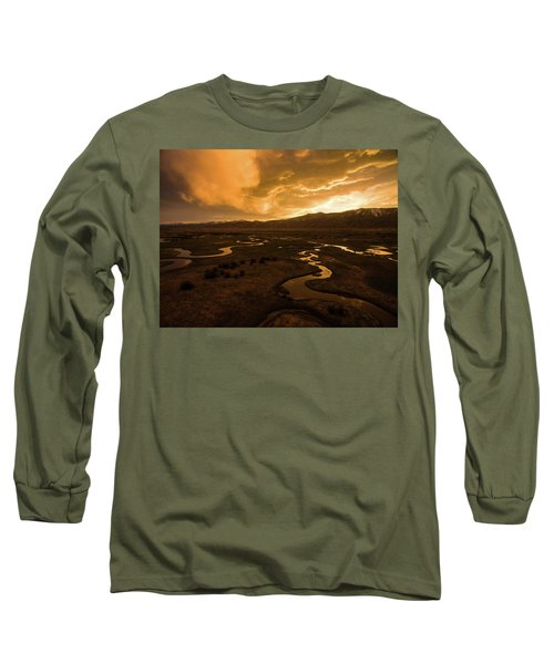 Sunrise Over Winding Rivers Long Sleeve T-Shirt