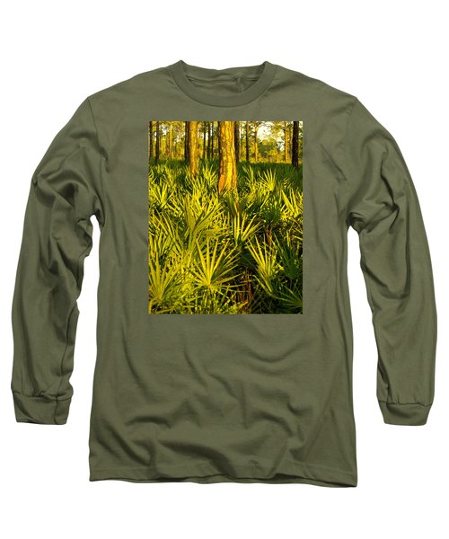 Sunrise Saw Palmettos Long Sleeve T-Shirt