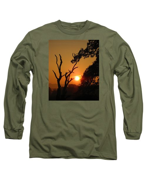 Sunrise Trees Long Sleeve T-Shirt by RKAB Works