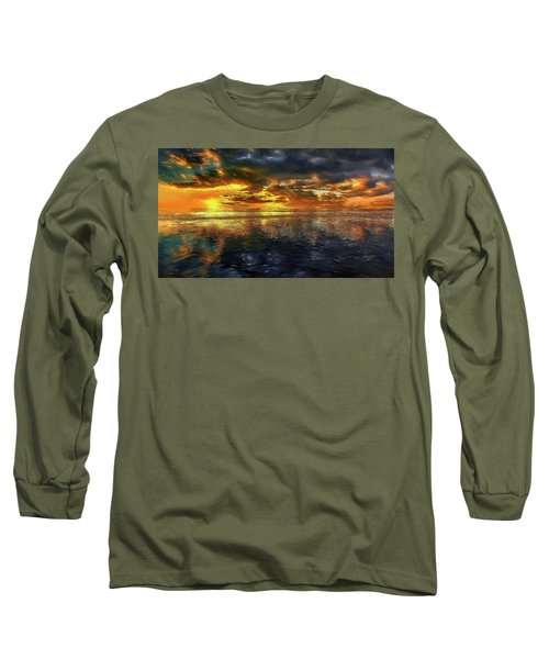 Sunset #95 Or Sunset Over The Atlantic. Long Sleeve T-Shirt by Alex Galkin
