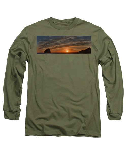 Sunset At Cape Kiwanda Long Sleeve T-Shirt
