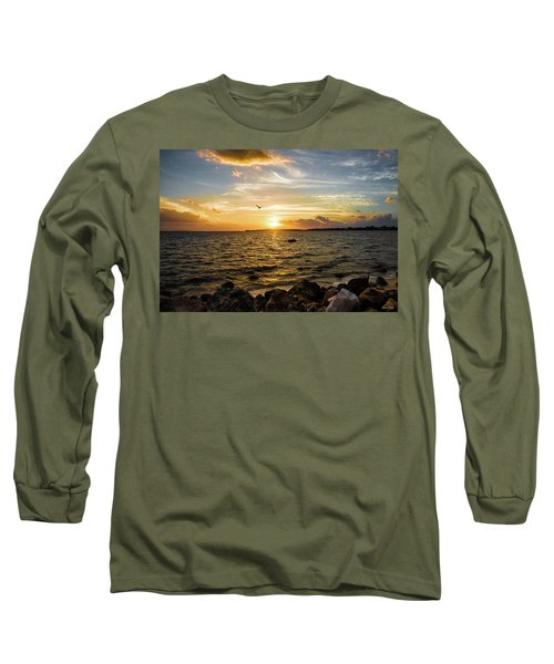 Sunset At Cedar Key Long Sleeve T-Shirt
