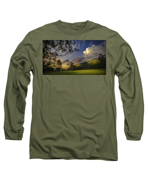 Sunset At Cocora Long Sleeve T-Shirt