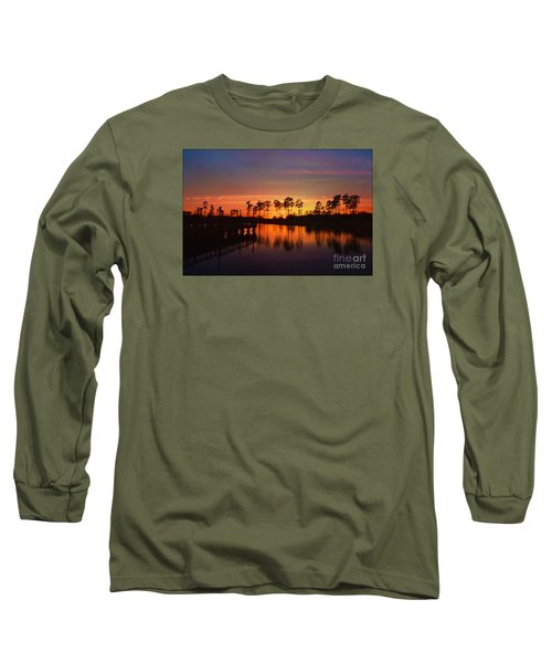 Sunset At Market Commons II Long Sleeve T-Shirt by Kathy Baccari