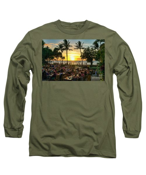 Sunset At Old Lahaina Luau #1 Long Sleeve T-Shirt