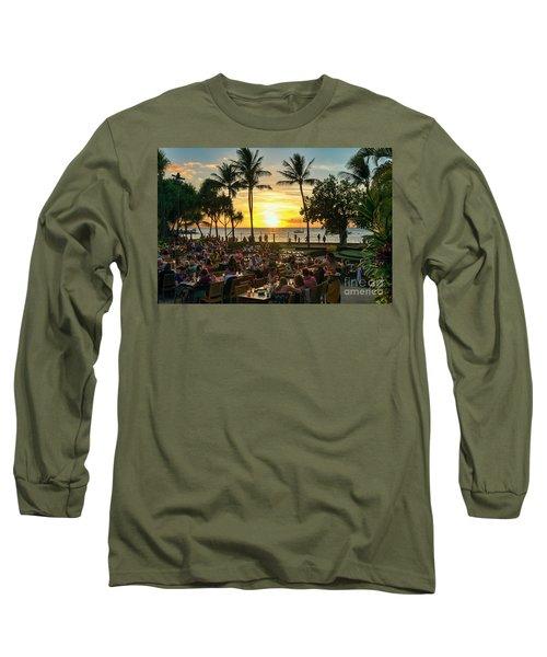 Sunset At Old Lahaina Luau #1 Long Sleeve T-Shirt