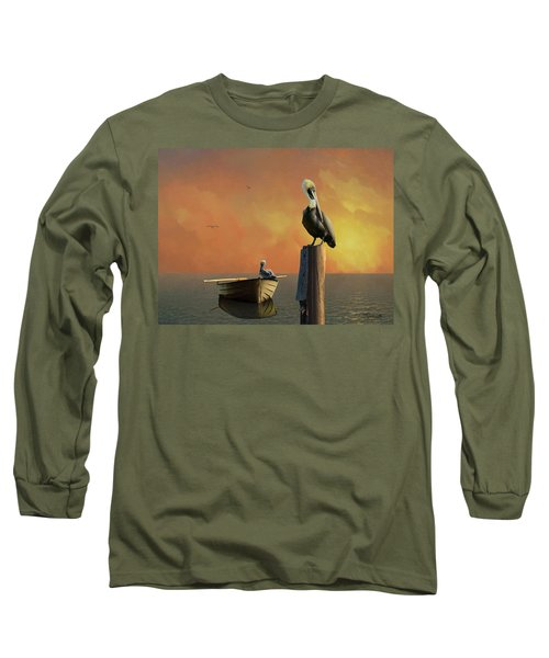Sunset At Pelican Cove Long Sleeve T-Shirt