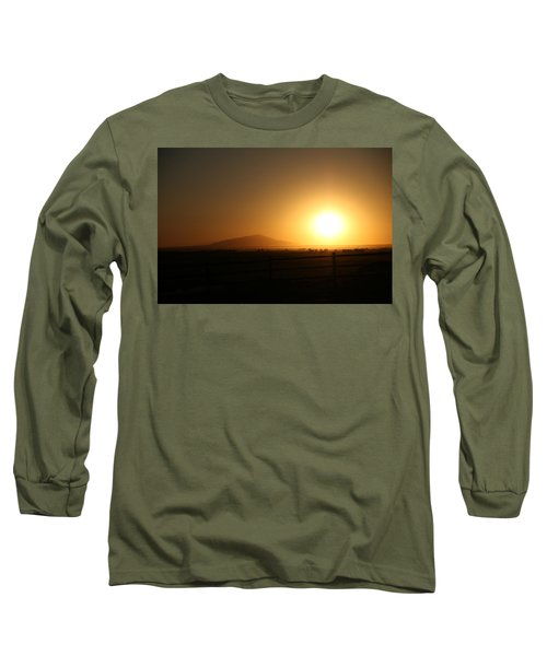 Sunset At Roswell New Mexico  Long Sleeve T-Shirt