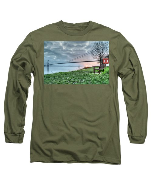 Sunset At The Humber Bridge Long Sleeve T-Shirt