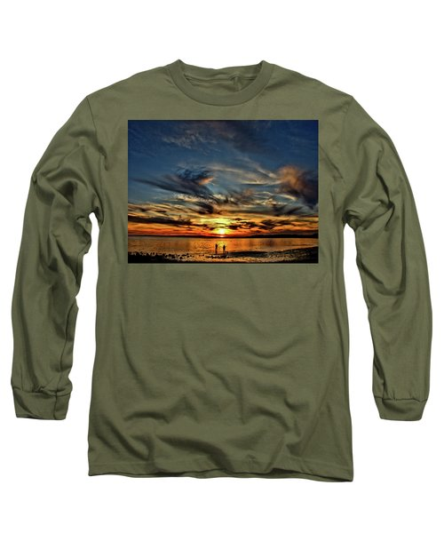 Sunset At The Waters Edge Long Sleeve T-Shirt