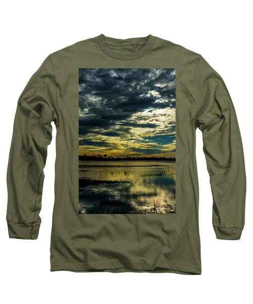 Sunset At The Wetlands Long Sleeve T-Shirt